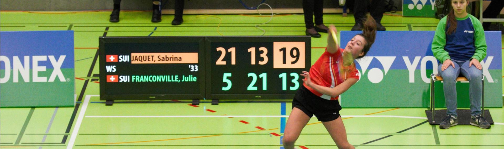 Julie Franconville, badminton : banque privée Bonhôte
